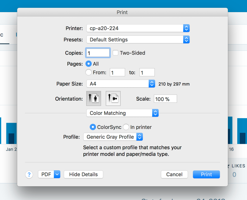 How To Print In Black And White On Mac OSX